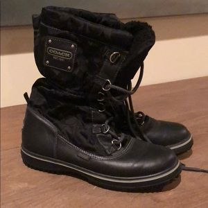 Coach Cold Weather Shaine Black Boots size 6.5